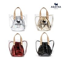 Agatha Crystal Clear Bags PVC Clothing Totes
