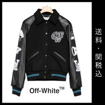 Off-White Short Casual Style Street Style Plain Leather