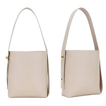 JOSEPH&STACEY 2WAY Plain Leather Elegant Style Totes