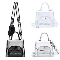 JOSEPH&STACEY 2WAY Plain PVC Clothing Elegant Style Shoulder Bags