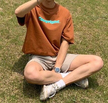 ASCLO More T-Shirts Street Style Cotton Short Sleeves Oversized T-Shirts 3