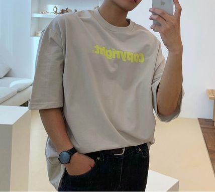 ASCLO More T-Shirts Street Style Cotton Short Sleeves Oversized T-Shirts 8