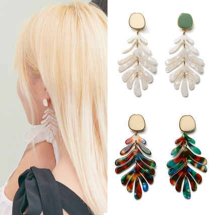 Casual Style Street Style With Jewels Earrings