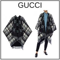 GUCCI Other Check Patterns Monogram Unisex Wool Home Party Ideas