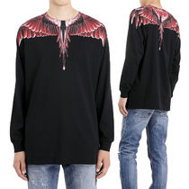 Marcelo Burlon Crew Neck Long Sleeves Cotton Long Sleeve T-Shirts