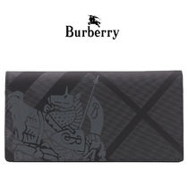 Burberry Unisex Leather Long Wallets