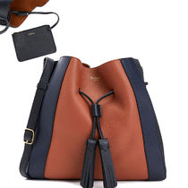 Mulberry Lily Plain Leather Office Style Shoulder Bags