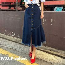 Casual Style Plain Skirts