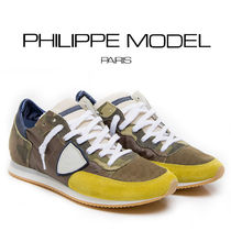 PHILIPPE MODEL PARIS Camouflage Leather Sneakers