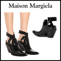 Maison Martin Margiela Leather Block Heels Ankle & Booties Boots