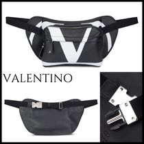 VALENTINO Studded Street Style 2WAY Bi-color Leather Bags