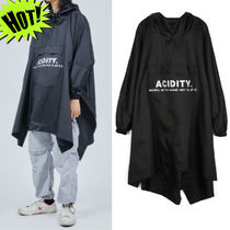 OPEN THE DOOR Unisex Street Style Plain Oversized Coats