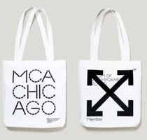 Off-White Unisex Street Style Collaboration A4 Totes