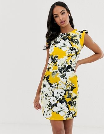 Short Flower Patterns Dresses