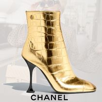 CHANEL Other Animal Patterns Elegant Style Ankle & Booties Boots