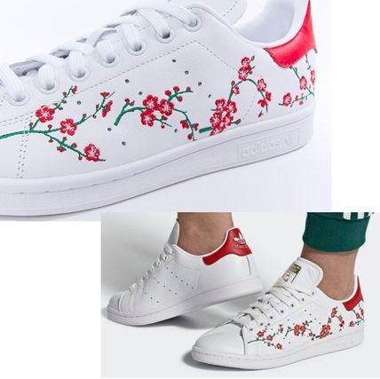 brand new 1927e a7be8 adidas STAN SMITH Flower Patterns Low-Top Sneakers