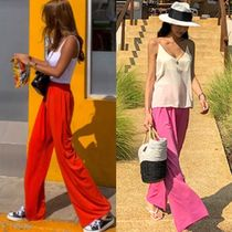 Casual Style Street Style Plain Long Oversized Pants