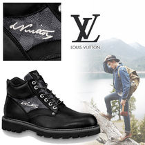Louis Vuitton Other Check Patterns Plain Toe Mountain Boots