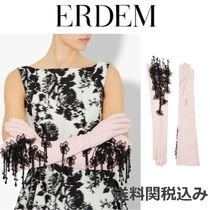 ERDEM Flower Patterns Leather Leather & Faux Leather Gloves