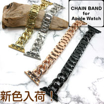 Unisex Street Style Chain Apple Watch Belt Watches Watches