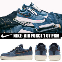 Nike AIR FORCE 1 Unisex Street Style Plain PVC Clothing Sneakers