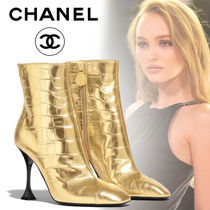 CHANEL Pin Heels Ankle & Booties Boots