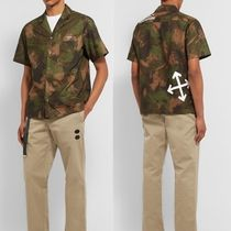Off-White Camouflage Street Style Short Sleeves Shirts