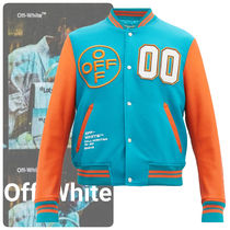 Off-White Short Wool Varsity Jackets