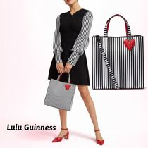 Lulu Guinness Stripes Casual Style 2WAY Totes