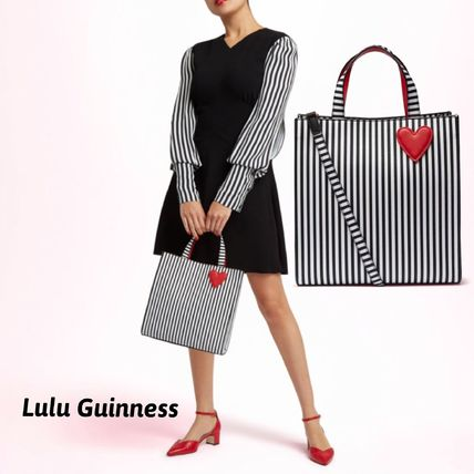 Stripes Casual Style 2WAY Crossbody Totes