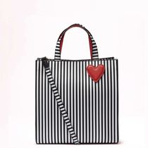 Lulu Guinness Stripes Casual Style 2WAY Crossbody Totes