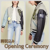 OPENING CEREMONY Short Casual Style Wool Varsity Jackets