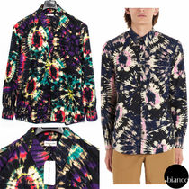 Dries Van Noten Tie-dye Long Sleeves Cotton Shirts