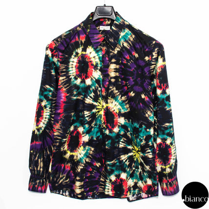 Tie-dye Long Sleeves Cotton Shirts