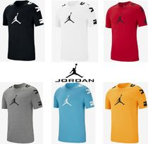 Nike AIR JORDAN Street Style U-Neck Plain Cotton Short Sleeves T-Shirts