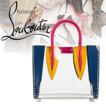 Christian Louboutin Paloma Casual Style Blended Fabrics 2WAY Plain Crystal Clear Bags