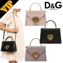 Dolce & Gabbana Calfskin 2WAY Plain With Jewels Elegant Style Shoulder Bags