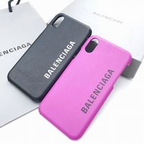 BALENCIAGA Plain Leather Smart Phone Cases