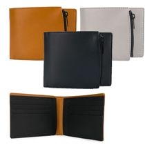 Maison Martin Margiela Plain Leather Folding Wallets