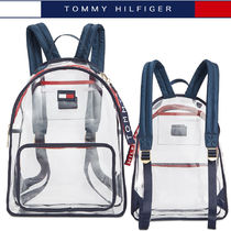 Tommy Hilfiger Casual Style Crystal Clear Bags PVC Clothing Backpacks