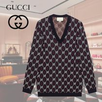 GUCCI Pullovers Unisex Wool Cardigans