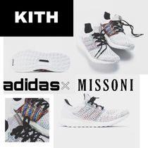 KITH NYC Round Toe Lace-up Casual Style Blended Fabrics Street Style