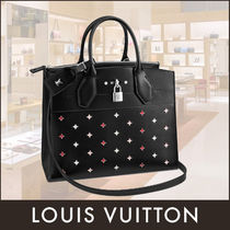 Louis Vuitton CITY STEAMER Calfskin 2WAY Elegant Style Handbags