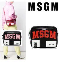 MSGM Casual Style Leather Shoulder Bags