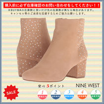 Nine West Round Toe Casual Style Chunky Heels Ankle & Booties Boots