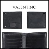 VALENTINO Camouflage Nylon Studded Folding Wallets