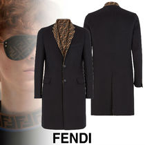 FENDI Wool Plain Long Coats