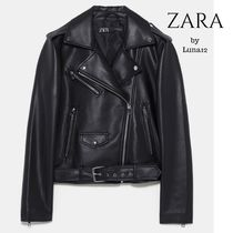 ZARA Casual Style Faux Fur Street Style Plain Medium Jackets