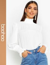 boohoo Casual Style Long Sleeves Tops