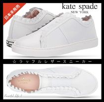 kate spade new york Plain Leather Low-Top Sneakers